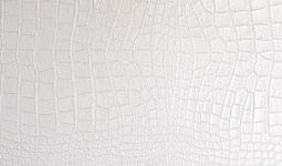 finiture vera pelle stampata cocco bianco