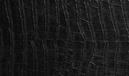 finiture vera pelle stampata cocco nera