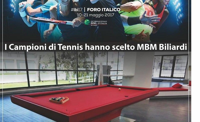 MBM Biliardi design has been chosen by BNL international tennis tournament!